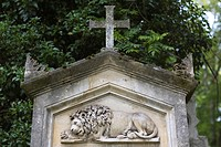 Grave of Elias Mauromichalis, 1800-1836, Greek officer, adjutant of King Otto of Greece, Alter Suedfriedhof, old cemetery in Munich, Bavaria, Germany