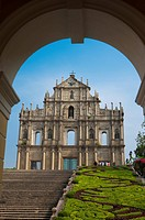 China, Macou, Ruins of Saint Paul's, Company Of Jesus Square, UNESCO, World Cultural Heritage