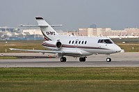 Private jet / Business jet at take off, Runway 18 West, Frankfurt Airport, Hesse, Germany