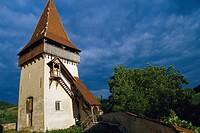 Fortified church of Biertan with tower, Kirchenburg, Biertan, Transylvania, Romania