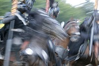 Knights fighting, Arena, Knights Tournament, Kaltenberg, Bavaria, Germany