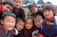 Children, Bhutan , Himalaya