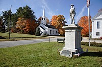 The village of Marlow during the autumn months  Located in the Marlow, New Hampshire, USA