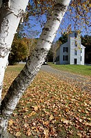 Trinity Anglican Church during the autumn months  Located in Cornish, New Hampshire USA This church is listed on the National Register of Historic Pla...