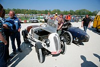 Vintage cars, market for parts of the car and vintage car meeting, Muehldorf am Inn, Upper Bavaria, Bavaria, Germany