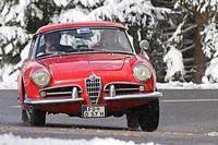 Alfa Romeo Giulietta Spider, built 1957, Jochpass Memorial 2007, Bad Hindelang, Bavaria, Germany