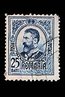 Carol I, King of Romania 1866_1914, postage stamp, Romania, Romania