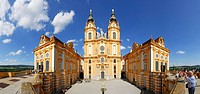 Panorama view of Melk Abbey, Wachau valley, Lower Austria, Austria
