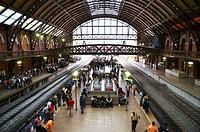 Platform at the Railway Station Estação da Luz in São Paulo, Brazil