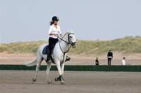 Horsewoman on the beach, Knokke, Belgium