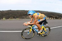 The german Normann Stadler duringthe Ironman Triathlon Contest in Hawaii on 21.10.2006. Kailua_Kona , Hawaii, USA