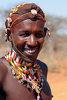 Portrait of&nbsp, Samburu warrior, Kenya, Africa