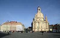 The rebuilt Frauenkirche church, Dresden, Saxony, Germany
