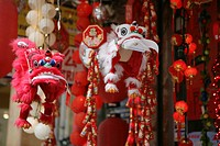 Shop for traditionel chinese decoration stuff, Chinese laterns, Hongkong, China