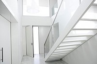Home interior stair white architecture lobby house decoration