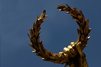 Laurel wreath of the statue of Liebenberg, Vienna, Austria