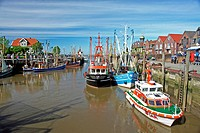 Neuharlingersiel _ Harbour, Germany, Lower Saxony, East Frisia