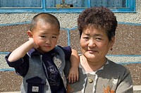 Dungan grandmother with child, Kyrgyzstan