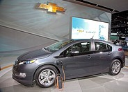 Detroit, Michigan - The Chevrolet Volt hybrid plug-in electric car on display at the 2010 North American International Auto Show