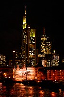 Skyline of Frankfurt am Main, Hesse, Germany