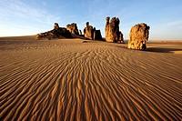 rockformation in desert, Algeria, Sahara