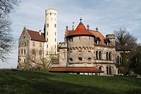 castle Lichtenstein, Germany, Baden_Wuerttemberg, Schwaebische Alb
