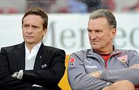 Horst HELDT, VfB Stuttgart manager, and Jochen RUECKER, VfB Stuttgart coach