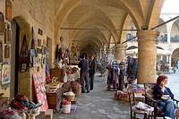 Bueyuek Han, large caravanserai, souvenir shops, Nicosia, Cyprus, Greece, Europe
