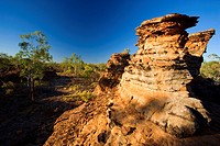 Keep River Rock formations _ chimney shaped rock formations in late evening light, Australia, Northern Territory, Keep River National Park