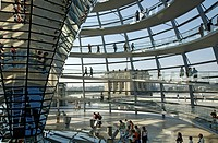 Dome of building Reichstag architect Norman Forster Berlin Germany