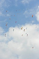 Paragliding, paragliders, Istria, Croatia, Europe