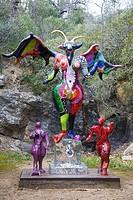the devil, il giardino dei tarocchi or the garden of tarot, garavicchio, capalbio, tuscany, italy