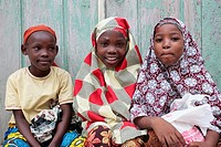 Three young girls on Ilha Mozambique