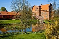 The Hesselagergaard manor house at Hesselager, Funen, Denmark, Europe