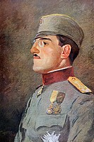 King Alexander I of Yugoslavia 1888 to 1934, when Crown Prince of Serbia  From L'Illustration, 1916