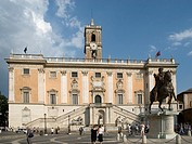 Palazzo Senatorio from the Piazza Del Campidoglio at the western end of the Roman Forum