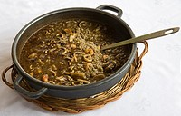 Seafood rice in casserole, Spain