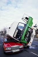 Car crash in London, UK