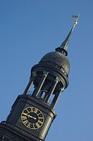 Tower of St Michaelis church at Hamburg Germany