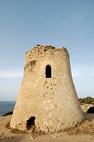 Medieval watchtower at the coast, Cala Pi, Majorca, Spain