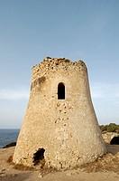 Medieval watchtower at the coast, Cala Pi, Majorca, Spain