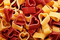 Heart-shaped noodles
