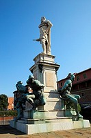 Monument of the Four Moors, Livorno. Tuscany, Italy