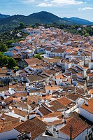 Overview from the castle of the Historic Village of Castelo de Vide, in Alentejo  Portalegre District  Portugal