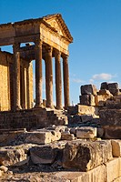 Capitol. Roman City of Dougga. Tunisia. Africa