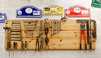 Tools on a wooden board