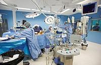 Cardiology operating room, cardiovascular surgery, cardiac surgery. Hospital Policlinica Gipuzkoa, San Sebastian, Donostia, Euskadi, Spain