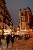 Postas street, night view. Madrid, Spain