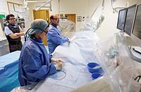 Coronary catheterization, Hemodynamics. Hospital Policlinica Gipuzkoa, San Sebastian, Donostia, Euskadi, Spain
