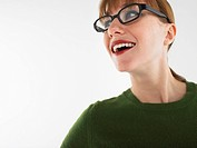 Woman in studio wearing glasses head and shoulders (thumbnail)